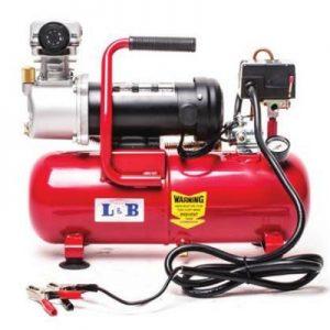 מדחס אויר 12V מקצועי עם מיכל 8 ליטר ספיקה גבוהה